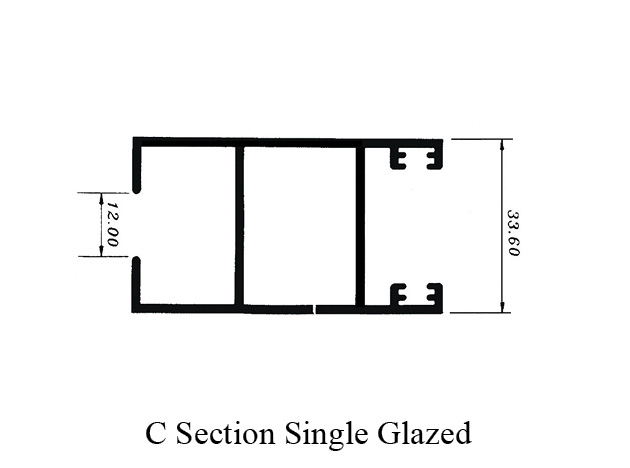 Aluminium Sliding Profile C Section Single Glazed - MIH GROUP