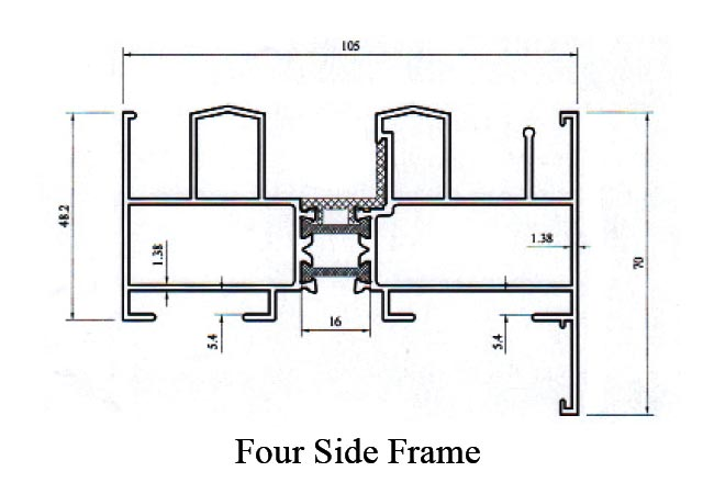 GE Thermal Break10 5cm Sliding Four Side Frame - MIH GROUP