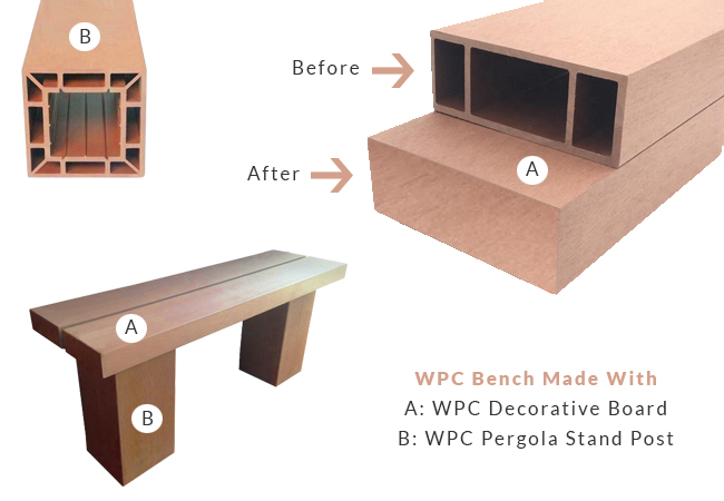 WPC Bench Thin Design