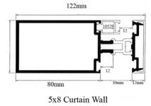 Aluminium Profiles Curtain Wall Series - MIH