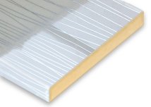 White + Silver Lines Post-Formed Laminated MDF Sheet