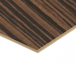Ebony Veneered Plywood 3.6mm Thickness