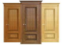 Solid Ash Wood Door with Frame 2-Panel Design