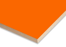 Orange  Melamine Faced MDF