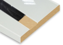 White + Metallic Slot Post-Formed High Gloss MDF Board