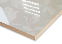 White Flower Laminated  MDF Board