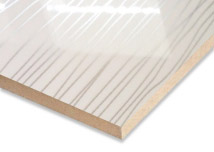 White Plus Sliver Lines High Gloss MDF Board